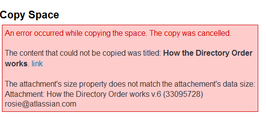 Solving a problem with Confluence Copy Space and Gliffy plugins