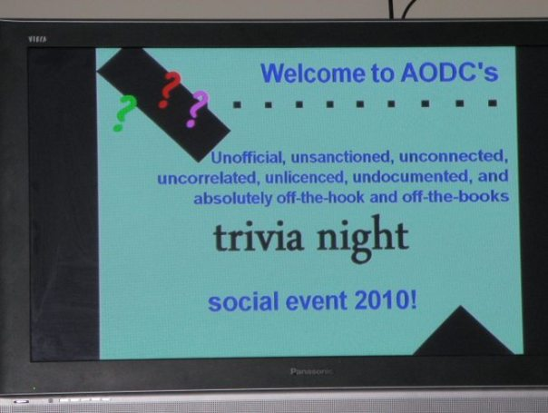 AODC 2010: Uncle Dave's Trivia Night