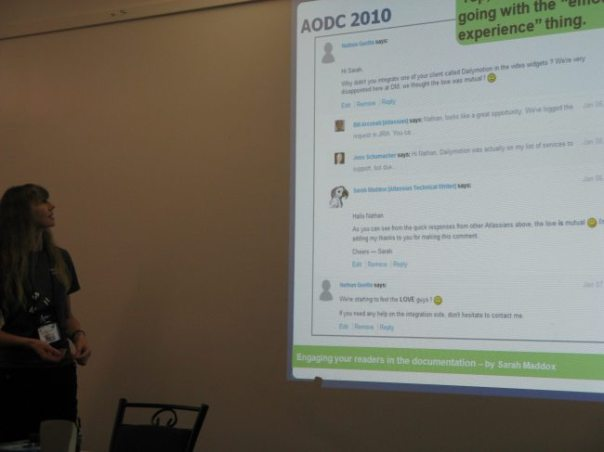 AODC 2010 day 2: Engaging your readers in the documentation
