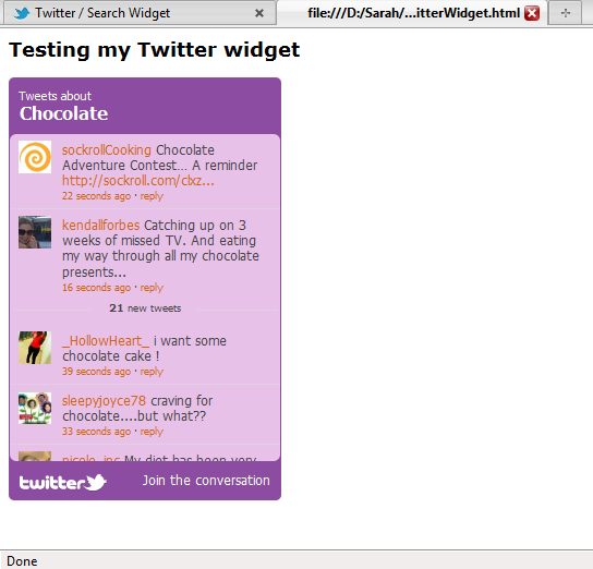 Embedding Twitter streams into your documentation