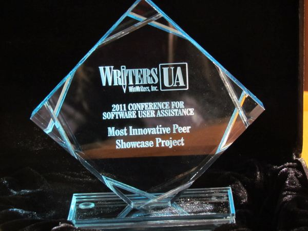 WritersUA Peer Showcase trophy
