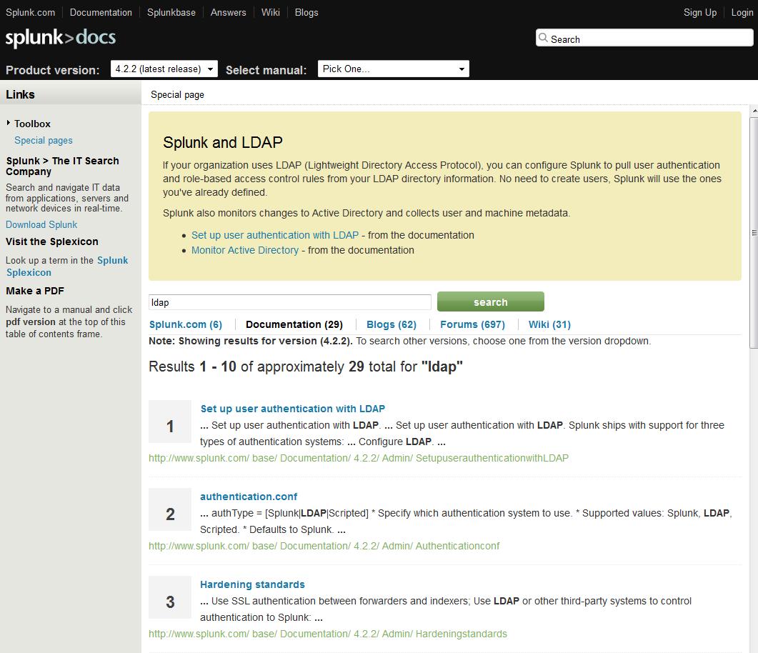 Wiki documentation – Splunk on MediaWiki | ffeathers