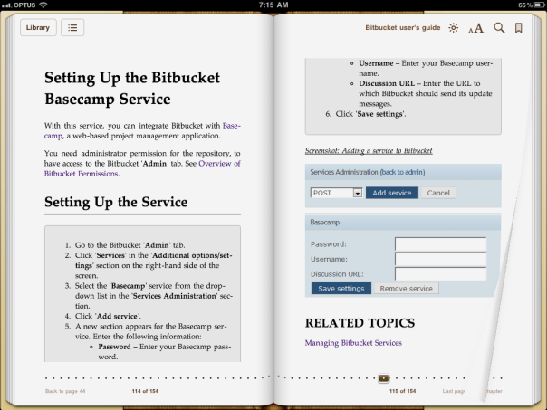 Publishing documentation to ebooks from Confluence wiki