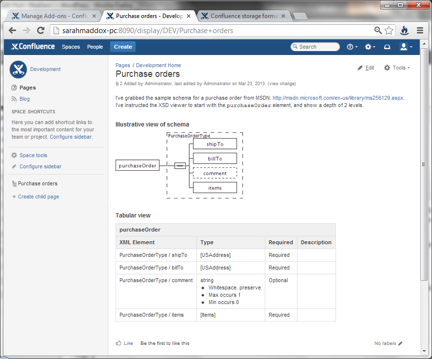 Want an xml schema viewer in confluence wiki ffeathers want an xml schema viewer in confluence ccuart Images