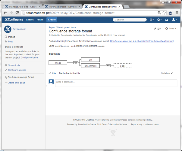 Want an XML schema viewer for Confluence?