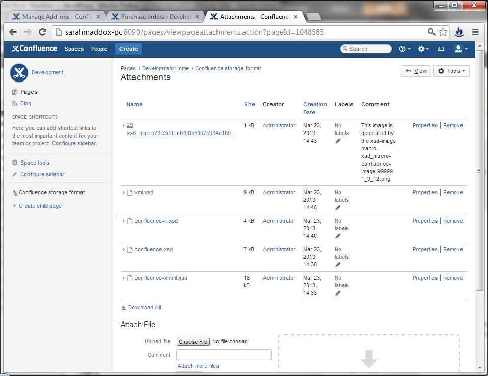 Want an XML schema viewer in Confluence wiki?