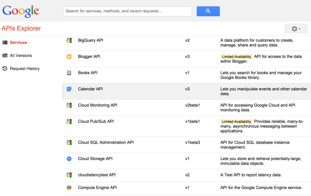 Google APIs Explorer