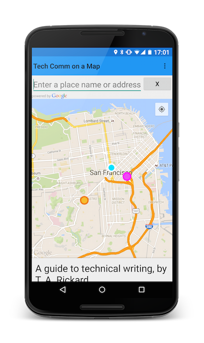Android Map Apps Fledgling Android app for Tech Comm on a Map | ffeathers