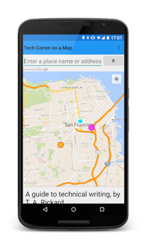 Tech Comm on a Map for Android