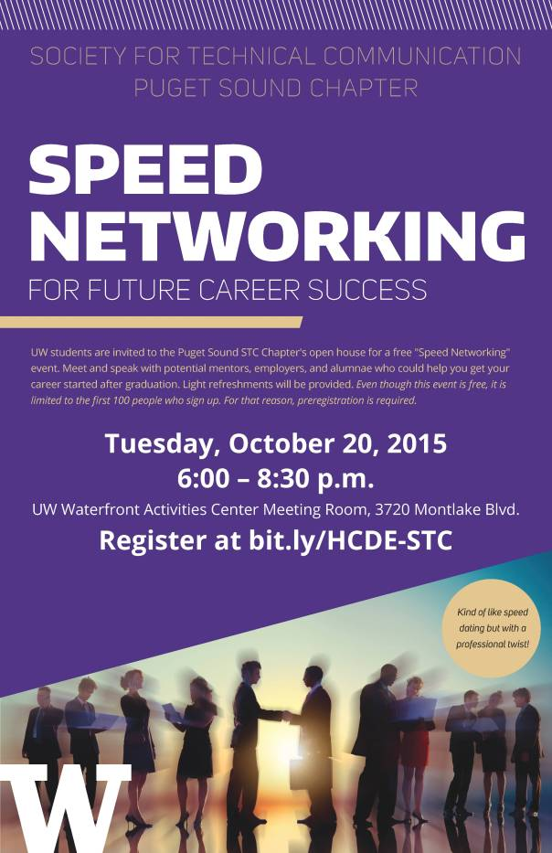 Tech comm networking poster
