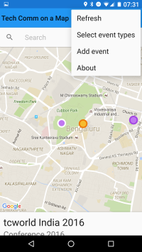 Tech Comm on a Map - Android app